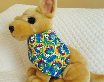 Dog Bandana, Tie Dye, Pet Accessories, Paws and Bones, Pet Supplies Neckwear, Pets, Pet Clothing Accessories and Shoes, Dogs, Dog Scarf