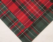 Two Vintage Reversible Plaid Placemats and Four Napkins - Holiday/ Christmas