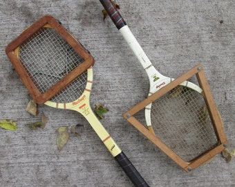 Vintage Tennis Racket Press - Wood and Metal - Choice of Two