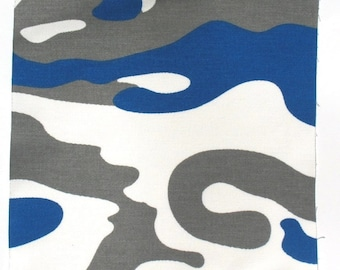 Blue Waves - IKEA Vagor Cotton Fabric Quilting Charm Squares
