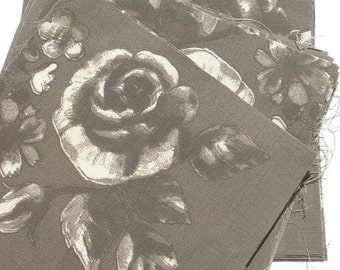 Grey Rose - IKEA Ros Marie Cotton Fabric Quilting Charm Squares