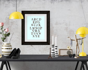 Lipstick and Pearls Alphabet Fashion Illustration Art Poster