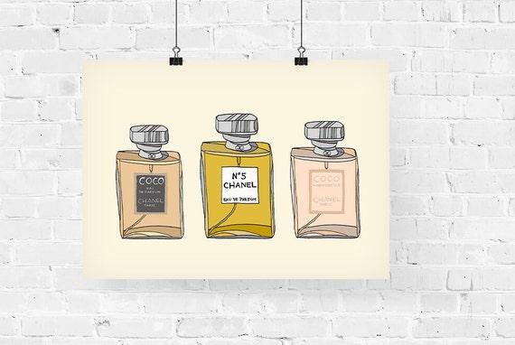 Chanel Perfume Lover Fashion Illustration Art Print