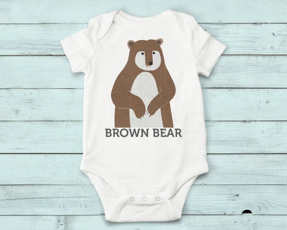 Brown Bear- onesie, baby girl, baby boy, baby gift, baby girl clothes, baby boy clothes, baby onesie, onesies, cute onesies, infant bodysuit