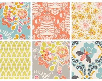 6 FAT QUARTERS - Sweet as Honey by Art Gallery Fabrics Bundle