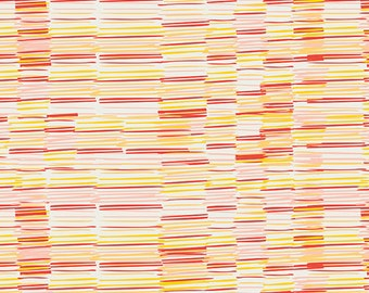 Plentiful Earth Saffron - Meadow - Art Gallery Fabrics - Leah Duncan - MW-70022 - Stripes Hand drawn