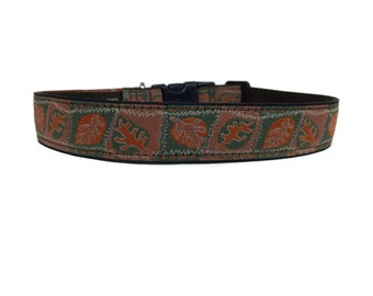 1 Inch Wide Dog Collar with Adjustable Buckle or Martingale in Fallen