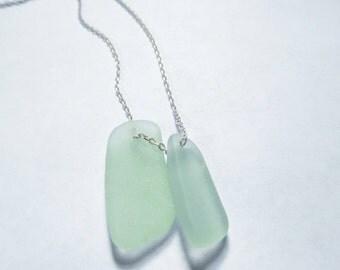 Seafoam Green Beach Glass Necklace