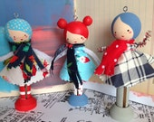 The Girls DIY Clothespin Doll Kit-Noel Edition