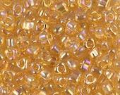 Triangle 5/0 Beads TR-1152 Light Topaz AB