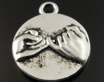 hand charms valentine  pendant pinky swear promise  pendant findings drop jewelry (R4) quantity  5 charms