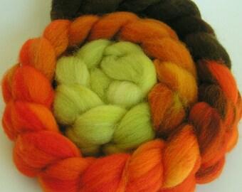 Roving Fiber Top Wool Rove halloween Falkland Gradient SEASON of CHANGE 4 oz Easy Spin Felt Knit Craft Gold Orange Brown Green Fall handdyed
