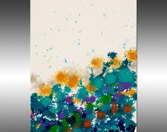Abstract Garden 1 - Original Abstract Painting, Contemporary Modern Art Paintings, Canvas Wall Art