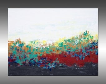 Sunrise Vista - Large Original Abstract Painting, Landscape, Canvas Art, Modern, Contemporary