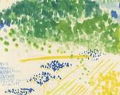 nani IRO Double Gauze Fabric - 2015 Spectacle, Ka - Half Yard