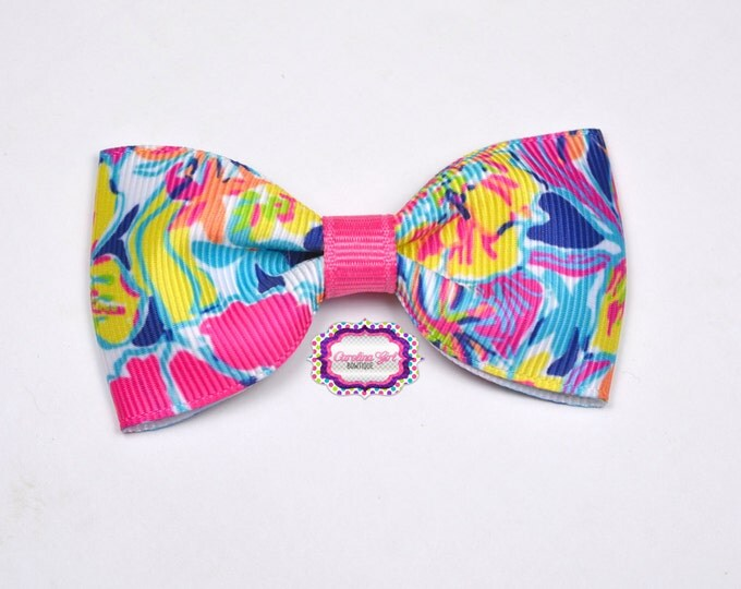 "Besame Mucho ~ 3"" Hair Bow Tuxedo Bow ~ Lilly Inspired ~ Simple Bow ~ Boutique Bow for Babies Toddlers ~ Girls Hair Bows"