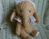 OOAK Handmade 6 inch Mohair Artist teddy Elephant  Olivia