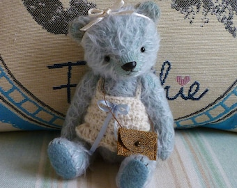 Reduced Price  OOAK Handmade 6.5 inch Artist Mohair Bear Molly
