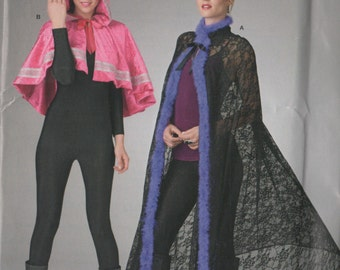 So Easy Hooded Short Cape or Long Cape Pattern Simplicity 316 One Size  UNCUT
