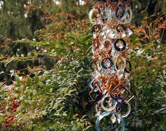 Organized Chaos 3.0 - Stained Glass - Colored Glass - Unique Wind Chimes - Suncatcher - One Of A Kind