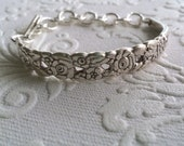 Community Plate Floral ID Bracelet with Toggle Clasp