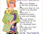 "6"" Fabric Art Panel - Quilter's Blessing"