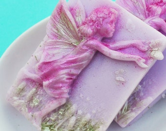 Fairy Butterfly Soap - Garden Fairy Soap - Lucky Lotus Blossoms Scent - Fairy Shaped Soap - Fairy Party Favors