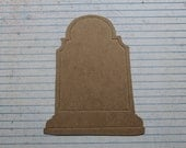 "3 Large Chipboard Tombstone Halloween Die cuts 4"" wide x 5"" tall"