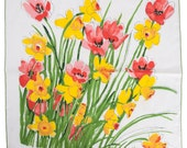 Vintage Set of Four Vera Napkins _ Poppies and Daffodils