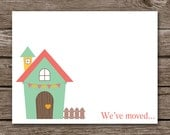 New Address Cards - House Note Cards - Notecards - New Home - New Address - We've Moved - Change Of Address - Personalized - Set of 8