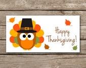 INSTANT DOWNLOAD - Thanksgiving Treat Bag Topper - Pilgrim - Turkey - Owl - Printable Digital File