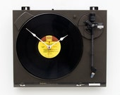 Recycled Technics Turntable Clock