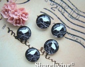 20% OFF SALE - Glass Cabochon, 8mm 10mm 12mm 14mm 16mm 20mm 25mm 30mm Round Handmade photo glass Cabochons (Birds) - BCH042F