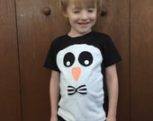 toddler boys penguin shirt with bow tie