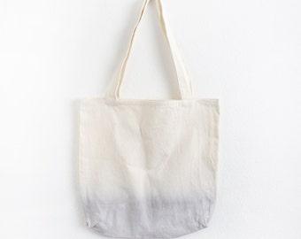 Light grey dip dye cotton tote II
