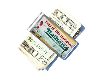 Money Clip- Nathan's Money Clip, NYC Money Clip, Brooklyn Money Clip, Billfold