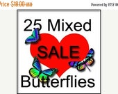 NEW YEAR SALE 1 off Special-25 Mixed Butterflies
