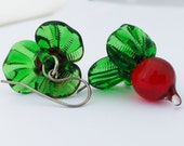 Luna's Radish Earrings - Lampwork glass radish earrings