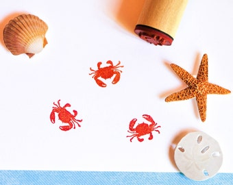 Red Crab Rubber Stamp