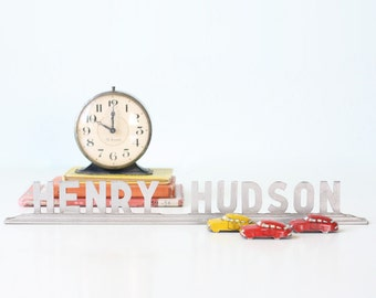 Vintage HENRY HUDSON Sign, Car Dealership Emblem