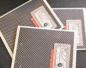 Halloween Spider Web Blank Cards - Set of 3