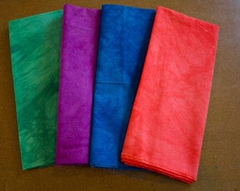 hand dyed fabric - 4 fat quarters - combo #3