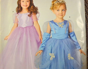 Sewing Pattern Simplicity 0331 Girls Princess Dresses Costumes Size 3-6 Uncut Complete FF