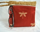 Dragonfly zipped pouch