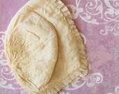 Mama's Sweet Baby...Vintage Cream Silk Baby Bonnet