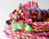 art yarn, hand spun yarn, handspun art yarn, wool yarn, boucle yarn, bulky yarn, handspun wool yarn .. jump and jive