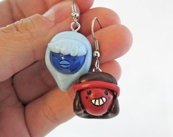 Ruby and Sapphire Steven Universe Gem Earrings