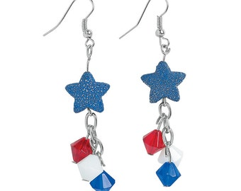 Patriotic Fireworks Earrings