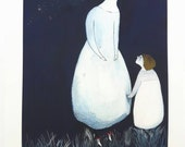 Look at the moon - Fine art Giclee print