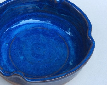 BLUE serving bowl -  casserole/baking dish - handmade - ceramic - pottery - stoneware  in stock S101